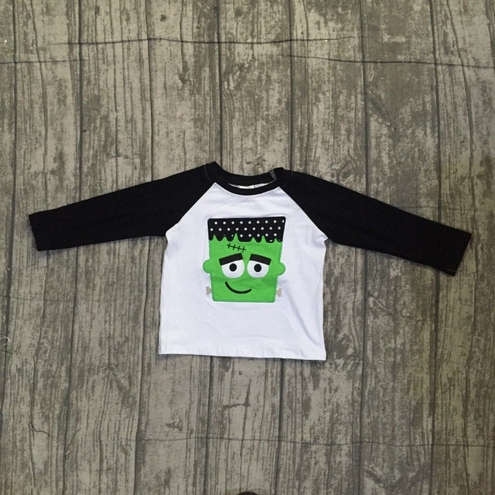 2018 new arrivals Fall/winter baby boy's Hulk black white cotton boutique cute top T-shirt reglans children clothes boutique kid