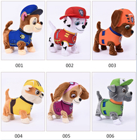 Puppy Patrol Walking Barking Plush Dog Robot Musical Interactive Toy Dog Electric Pets Plush Toys For