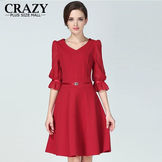 Plus Size Summer Dress 2019 Fashion Women Large Size 5XL 4XL Puff sleeve Slim  Vintange Elegant OL Dresses For Lady
