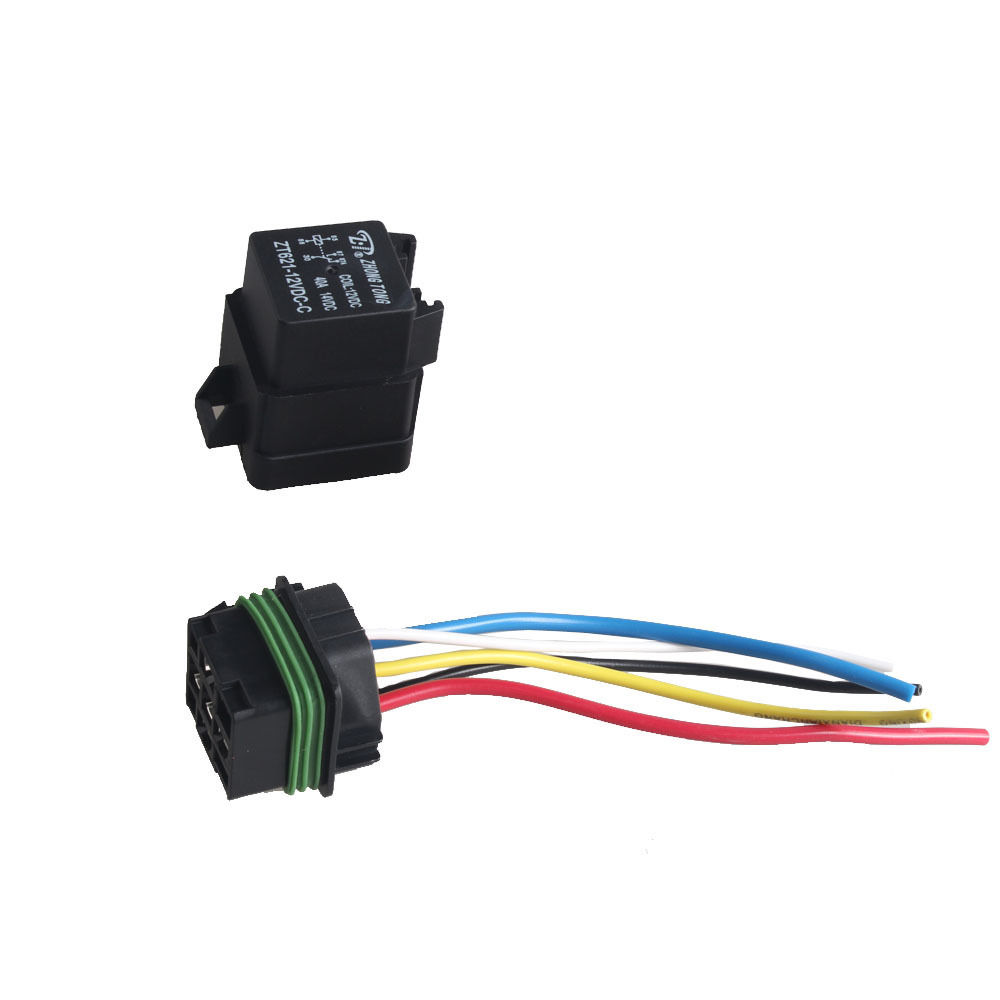 Ee Support 2pcs 12v 40a Spdt Relay Socket Plug 5pin 5 Wire Pin Connector Waterproof Seal Car Truck Xy01 In Switches Relays From Automobiles Motorcycles On
