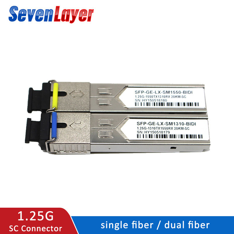SFP Module 1.25G SC BiDi 1310nm/1550nm WDM Switch  SFP Transceiver Module With Switch With DDM Function Compatible With Mikrotik