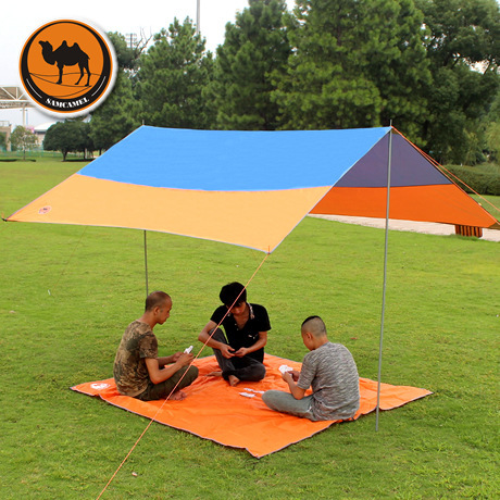 dhl free shipping High quality 300cm*300cm iron poles UV beach tent sun shelter camping tent awning tarp for 5 to 8 people