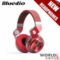 Bluedio T2+ Wireless Bluetooth Headphones Version 4.1 Built-in Mic Fashionable Folding for Handsfree Phone Calls&Music Streaming