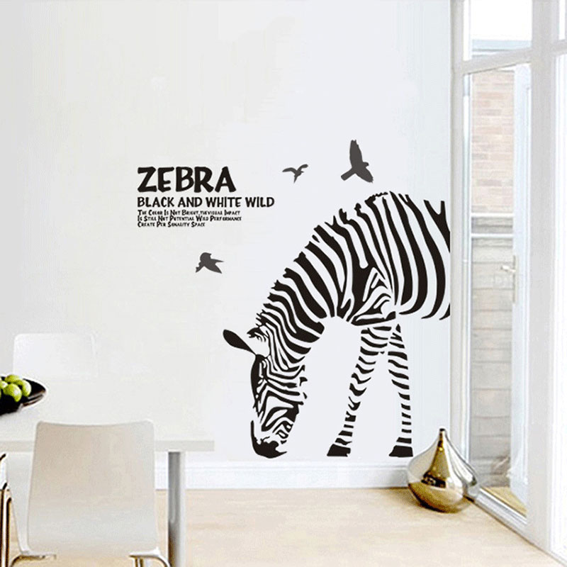 Diy abstract fashion personality black and white sketch for Diy room decor zebra