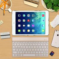 For New IPad 9 7 2017 Premium Portable Slim Rechargeable 7 Colors LED Backlit Backlight Aluminum