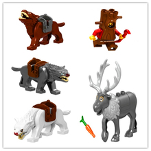 Genuine LELE Figure Lord Of The Rings Hobbit Wolf Crook Elk Model Building Block Toys For Children Compatible Legoe