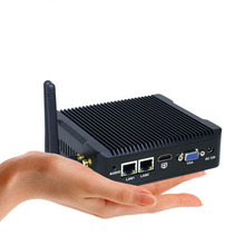 Celeron J1900 Quad Core Mini PC безвентиляторный мини-компьютер с VGA HDMI Двойной LAN 2 NIC Порты и разъёмы 2 com или 1 COM неттоп Windows 7 компьютер