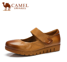 CAMEL 2015  new shallow mouth cowhide flats female casual shoes A52153604