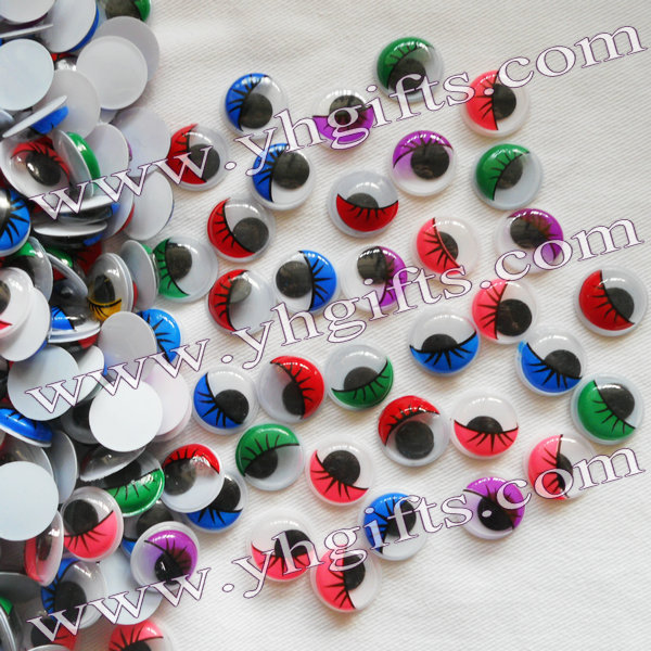 500PCS/LOT,1.5cm colorful eyelash eyeball,Colorful wiggle eyes,Doll eyes,Craft work,Craf ...