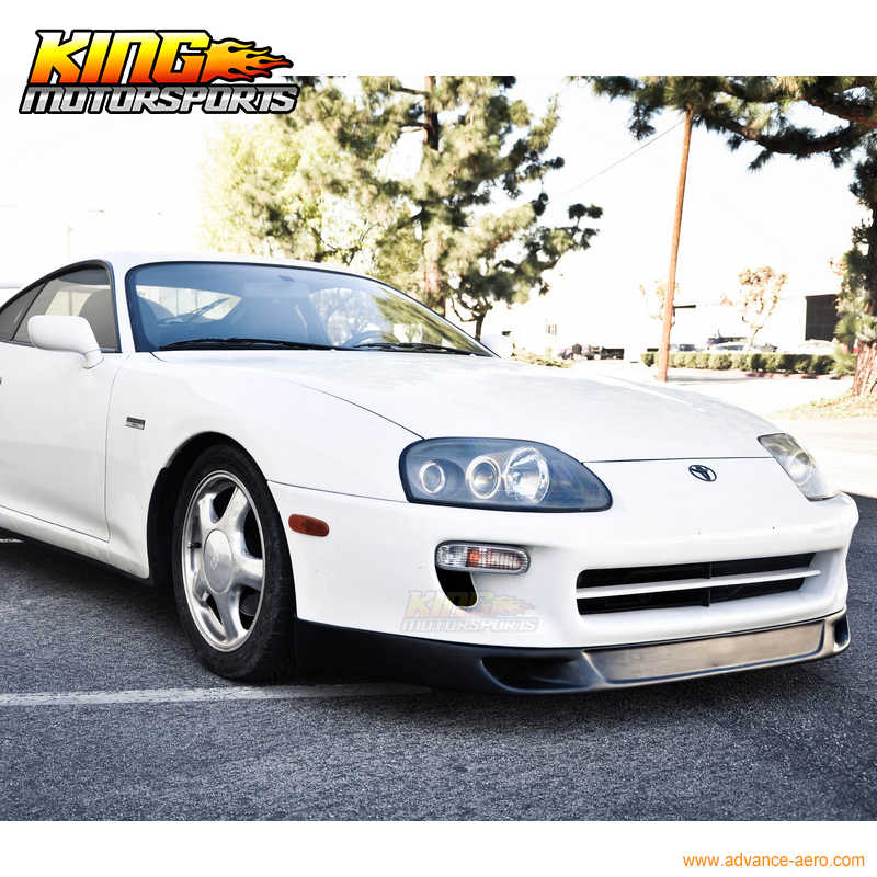 d55a325cbd ... For 93-98 Toyota Supra Front Bumper Lip V2 Style Without The V1 Side  Flaps ...