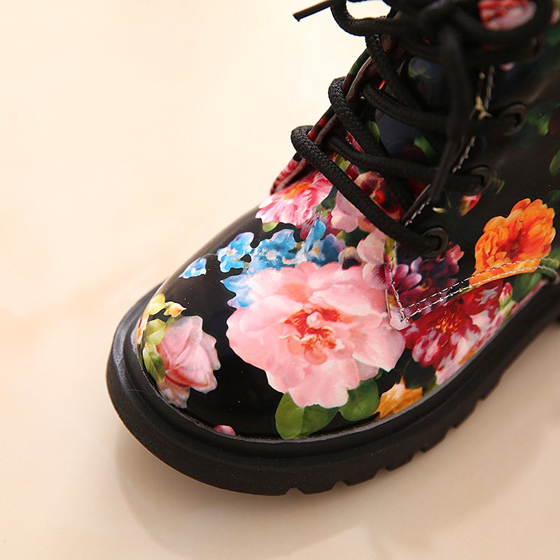 Comfy-Kids-Shoes-Floral-Martin-Boots-for-Girls-Botas-Elegant-Flower-Print-PU-Leather-Shoes-Child-Rubber-Soled-Boots-Brand-Bottes-3