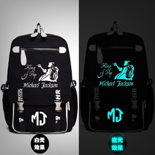 Michael Jackson King of Pop MJ Backpack Messenger Luminous Bag School Travel Bags Anime Gift