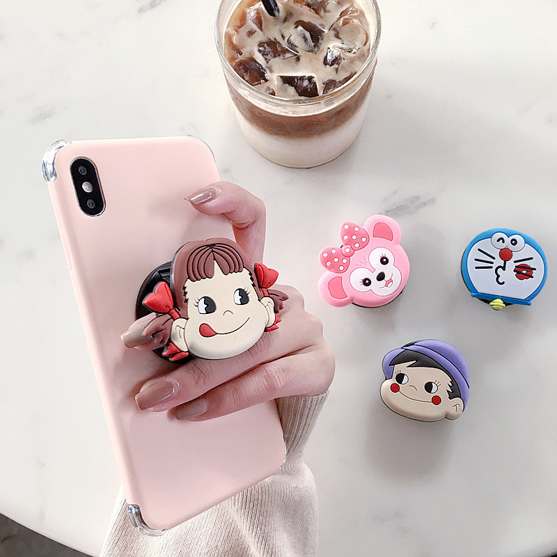 Cute Cartoon Anpanman Sesame Street Round Universal Mobile Phone Ring Holder Airbag Gasbag Fold Stand Bracket For Iphone Samsung