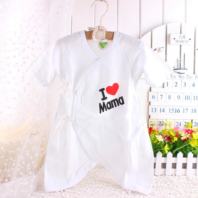 Breathable & Soft Infant pure cotton High quality density gauze New born baby rompers for girls & boys kids clothes wear