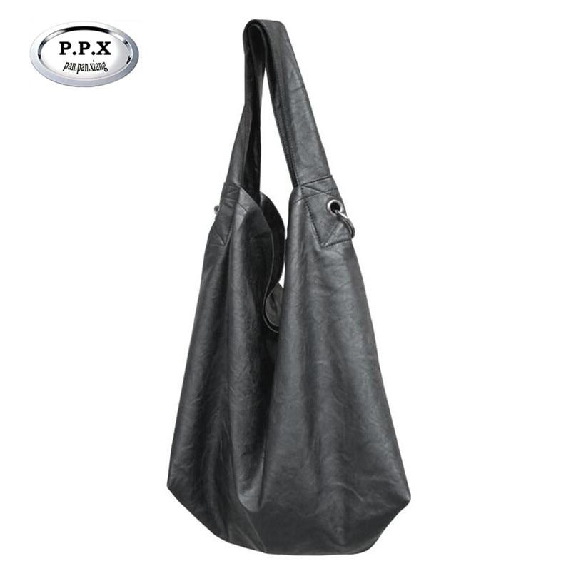 European And American Style Women Bag Simple Fahison Single Shoulder Bags High Quality PU Leather Handbags Shopper Bag M807