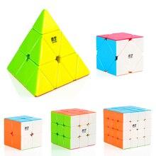 2x2x2 3x3x3 4x4x4 5x5x5 наклонная Пирамида Профессиональный скоростной магический куб базовый пазл твист классический развивающий куб игрушки для детей