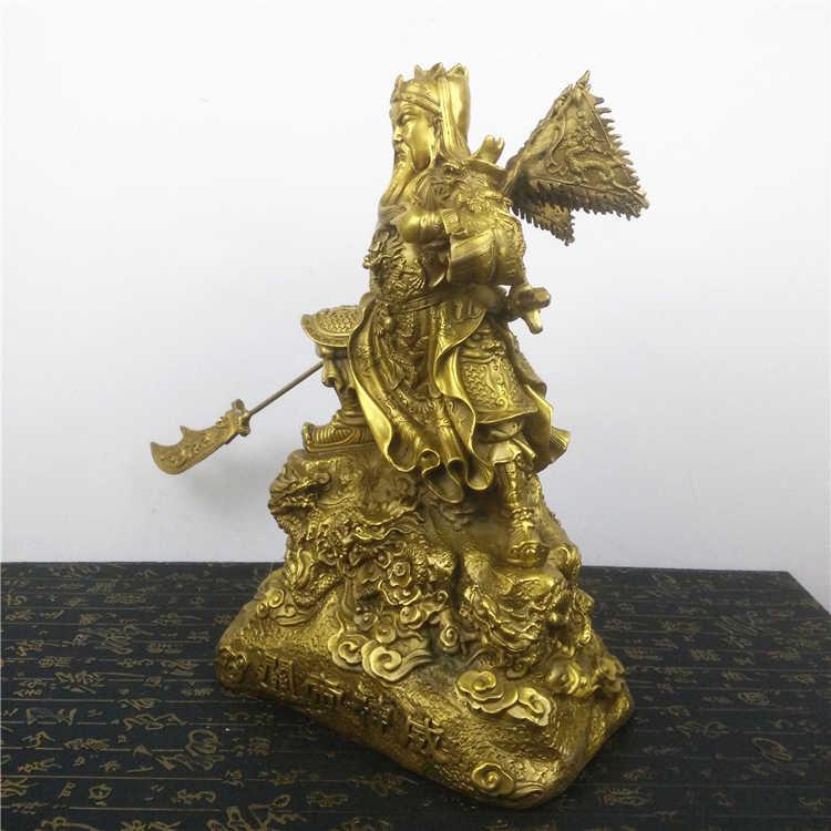 Шун латунь медь Wu Caishen Guan Yu украшения Коулун Гуань Гун упоминание нож Гуань эрье открыт Lucky подарок