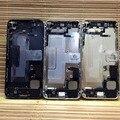 Completo volver asamblea de la cubierta para el iphone 5 5g volver batería vivienda cubierta de la Caja + cable flex + botón Reemplazar parte envío gratis