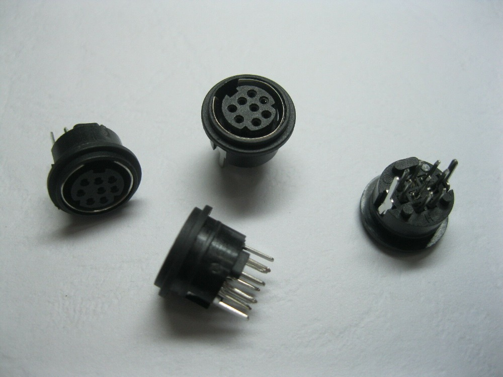 3 Lot 8Pin DIN Plug MALE Connector Electronics Supply UNIVERSAL Replacement