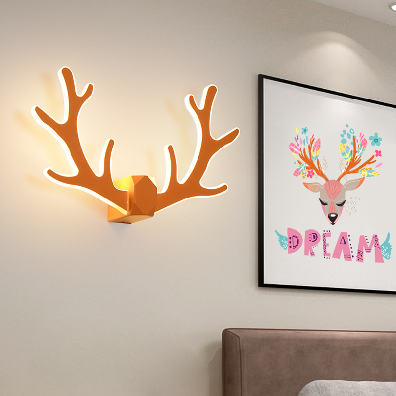 Modern Wall Lamps Nordic Creative Antler Deer Wall Sconces bedroom Living Room Lighting light Stairs Bedside Lamp fixtures modern minimalist acrylic wall lamps smd led creative circle wall lights bedroom bedside lighting corridor balcony stairs lamp