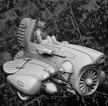 1/35 fantasy modernen mann mit Pilot Historische spielzeug Harz Modell Miniatur Kit unassembly Unlackiert
