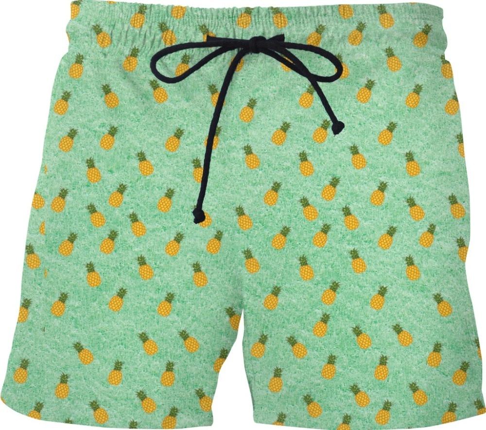 Quick Dry Summer Mens Siwmwear Mens Beach Board Shorts Swims Men Swims Pineapple Shorts Beach Wear Watermelon Donut Shorts