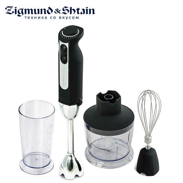Zigmund & Shtain BH-129 R Блендер погружной, 900 Вт, Основная чаша измельчителя 500 мл, 12 скоростей работы, Насадка-венчик/блендер, Чаша для смешивания 600 мл, Плавная регулировка скоростей, Низкий уровень шума
