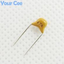 50 шт Монолитные бескорпусный керамический конденсатор MLCC Multi-многослойный керамический конденсатор 0,47 мкФ 470NF 474 50 V+/-20