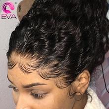 Pelucas de cabello humano con encaje frontal rizado sin pegamento prearrancado 13x 4/13x6 peluca con malla frontal para mujeres negras cabello EVA peluca rizada brasileña Jerry