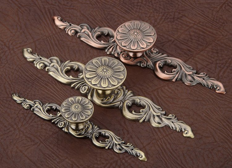 Europe Style Classical Cabinet Drawer Pull Handle And Knob Antique Copper  small size ( L:113MM H:23MM ) - Online Get Cheap Antique Copper Drawer Pulls -Aliexpress.com