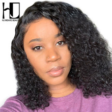 Curly Human Hair Wig Pre Plucked With Baby Hair Bob Wig Short Lace Front Human Hair Wigs For Black Women(China)