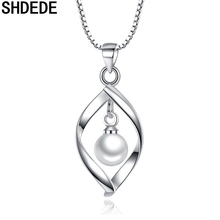 SHDEDE Fashion Jewelry Trendy Simulated Pearl Pendants Necklace For Women Stylish Valentine's Day Gift +*WHJ117 shdede white 7