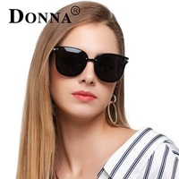 Donna Oversized Cat Eye Sunglasses Women Round Classic Polarized Frame Flat Night Vision Sun Woman Fashion Lens Glasses D91