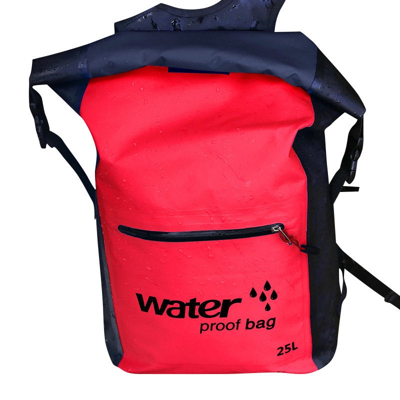 Waterproof Backpack With Padded Laptop Sleeve For Travel Cycling Camping Hiking Rafting EDF88
