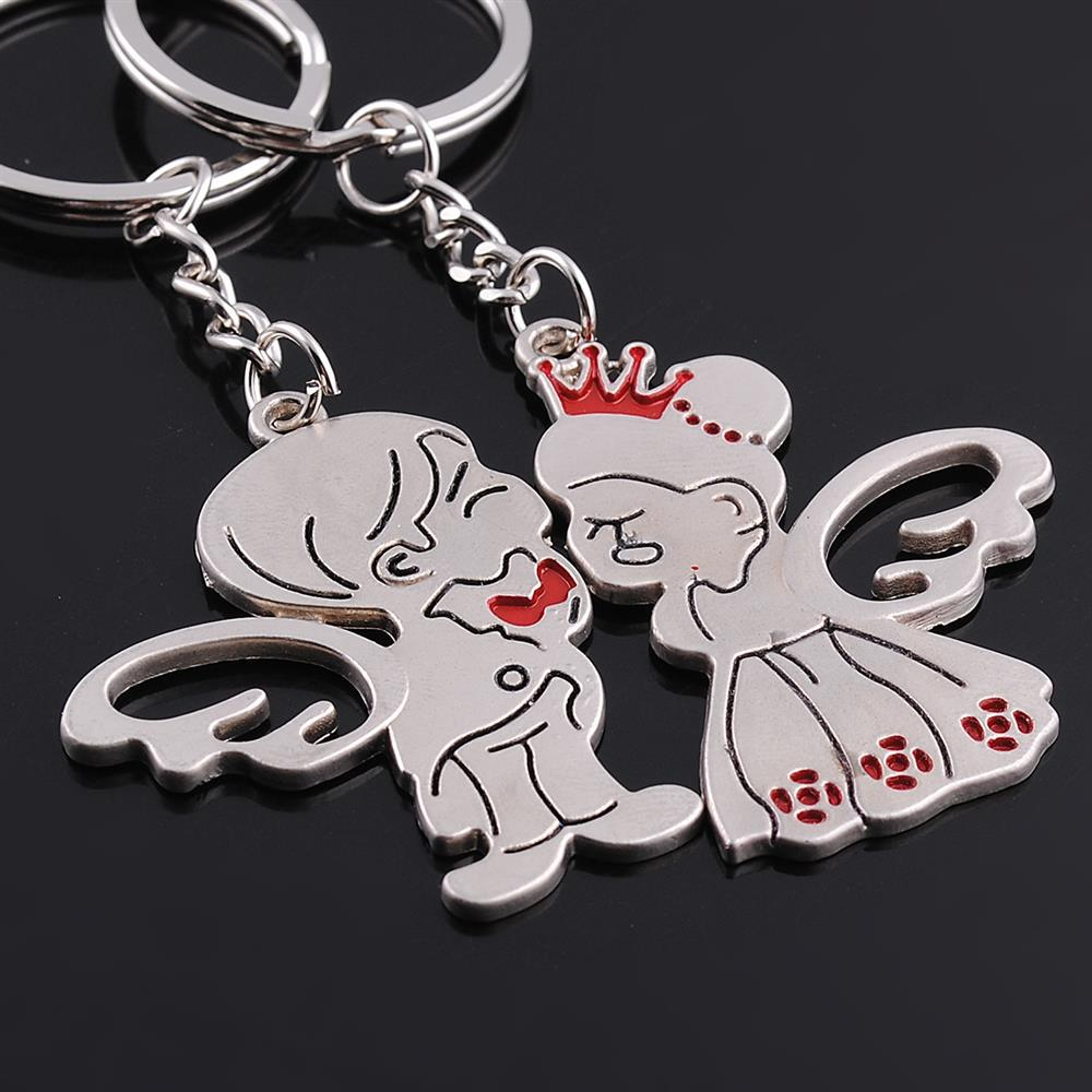New Creative Angel Wing Lover Boy And Dress Crown Girl Romantic