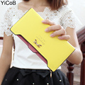 Ladies Long Wallets Women PU Leather Carteira Feminina and Purse Female Portefeuille Femme billeteras para mujer BOW for Girls
