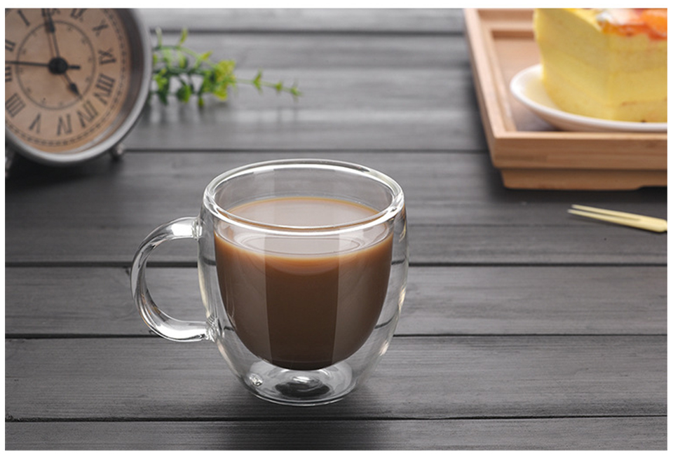 Heat Resistant Double Wall Glass CoffeeTea Cups And Mugs Travel Double Coffee Mugs With The Handle Mugs Drinking Shot Glasses  (3)