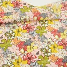 Хлопковая ткань в стиле пэчворк, милые цветы, дизайнерские ткани для кукол, домашний текстиль, декоративная ткань для одежды Telas Art Work