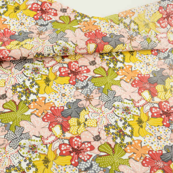 100% Cotton Fabric Patchwork Lovely Flowers Designs Cloths for Doll's DIY Home Textile Decoration Clothing Tissu Telas Art Work