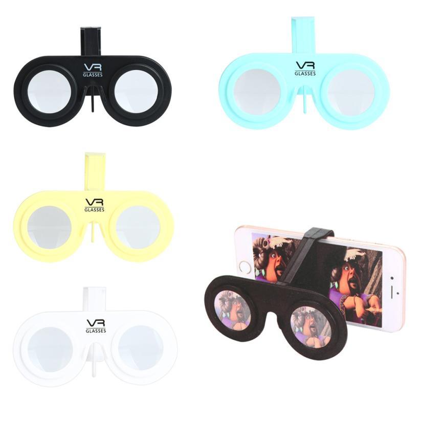 Mini Virtual Reality Glasses Folding Mini 3D Glasses VR For Smartphone Light foldable 4.0-6.0 inch Z1109 DROPSHIP