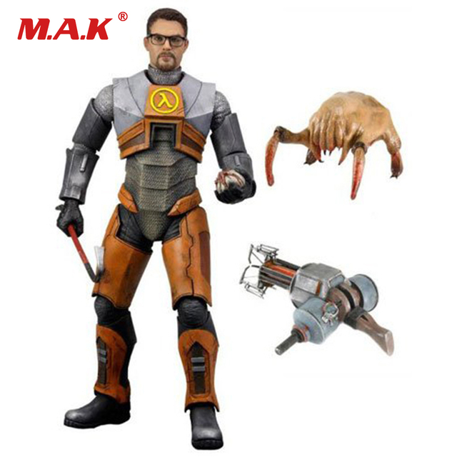 18cm  Half Life 2 Gordon Freeman Gravity Action Figure Model Toys Collections