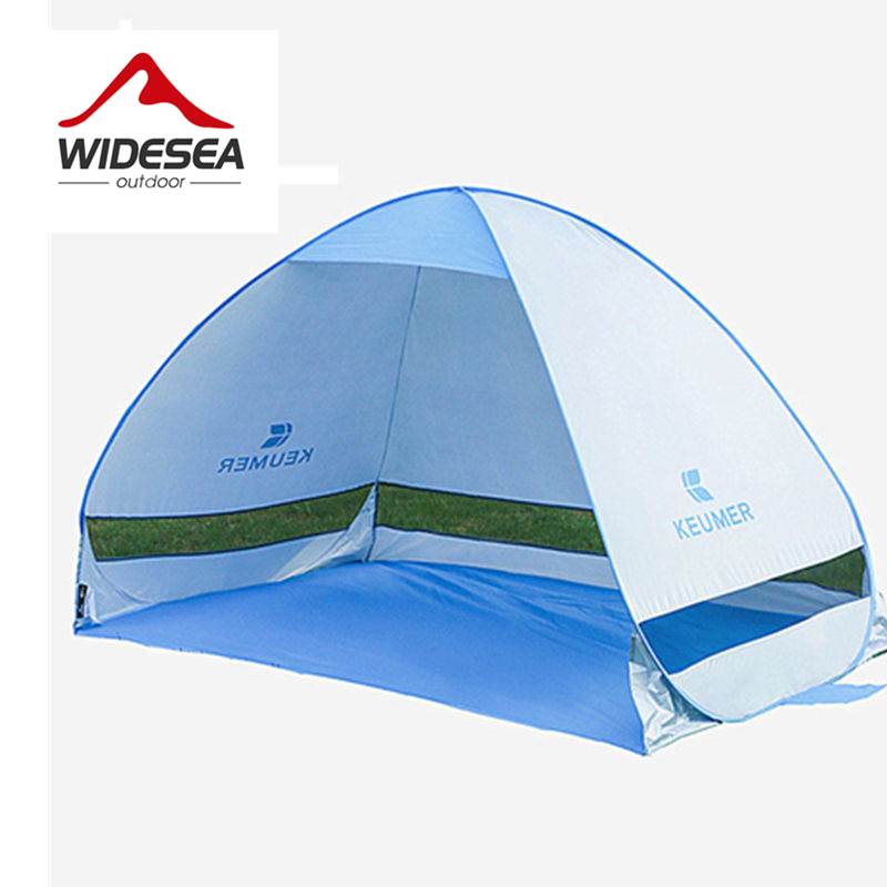WIDESEA quick Automatic Open beach tent UV protective sun shelter shade pop up open gazebo for