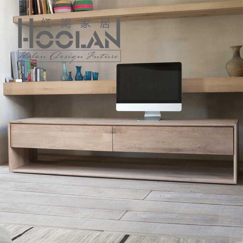 Nordic ikea tv meubel eiken essen hout moderne for Houten meubels woonkamer
