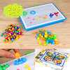 296 Mushroom Nail Intelligent Composite Picture 3D Puzzle Games DIY Mushroom Nail Plastic Flashboard Children Educational
