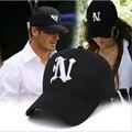 2016 novo boné de beisebol do snapback chapéus cap outono e inverno carta N carta Cap gorras Casquette Hop do Sexo Masculino Feminino Baseba