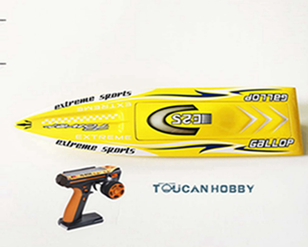 E25 RTR Gallop Fiber Glass Racing Speed Boat W/2550KV Brushless Motor/ 90A ESC/Remote Control Ready to Run Boat Yellow nce6990 to 220 69v 90a