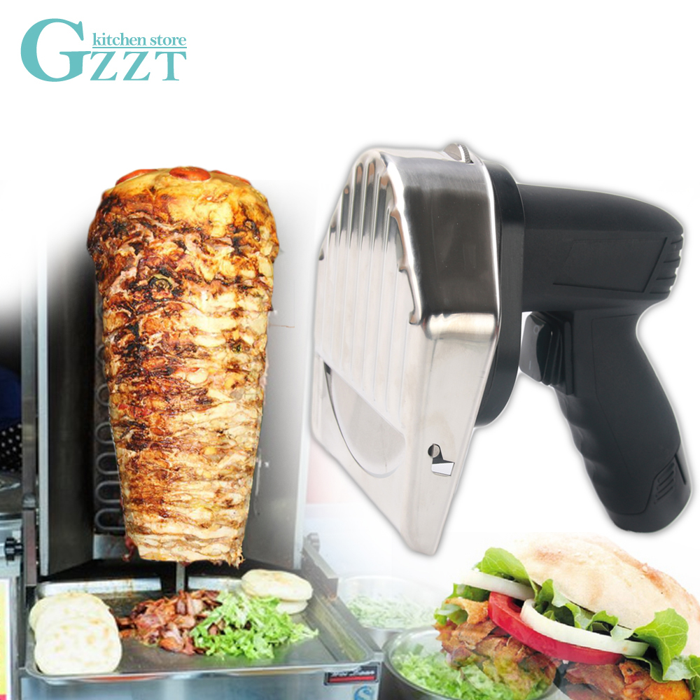 무선 케밥 슬라이서 충전식 shawarma doner 케밥 나이프 eu/ul 플러그 자이로 나이프 자이로 커터 2 개 배터리-에서주방 칼부터 홈 & 가든 의  그룹 1
