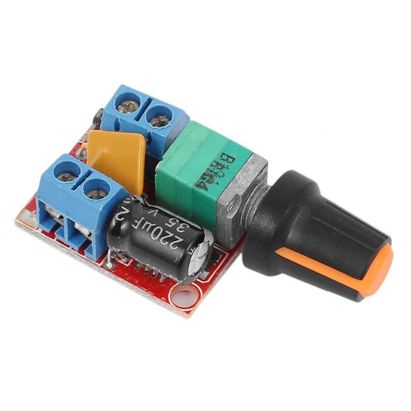 LIXF-DC Motor Speed Control Driver Board 3V-35V 5A PWM Controller Stepless DC 3V 6V 12V 24V 35V Variable Voltage Regulator Dim