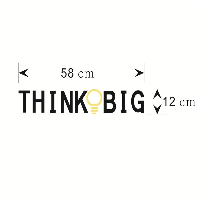 HTB1sR2hKpXXXXcuXXXXq6xXFXXXh - THINK BIG Removable Vinyl Quotes Wall Sticker-Free Shipping