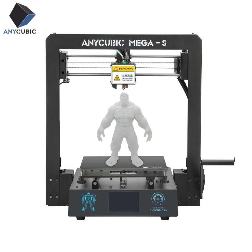 ANYCUBIC Mega-S 3d принтер Мега обновление большой плюс размер Полный металлический TFT сенсорный экран 3d принтер высокая точность 3D Drucker